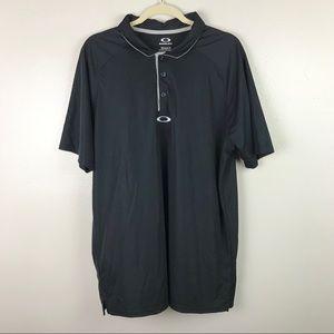 Oakley | Black Hydrolix Golf Top Tee Polo